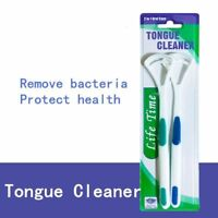 2Pcs Dental Care Brush Cleaner Bad Breath Tongue Cleaner Scraper Oral Clean New