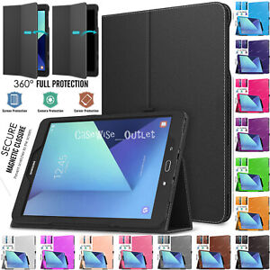"""Leather Folding Flip Stand Case Cover For Samsung Galaxy Tab S3 9.7"""" T820 T825"""