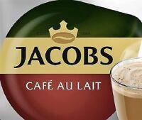 8 X Tassimo Jacobs Café Au Lait T-Discs Schoten Locker Verkauft - 8 Getränke