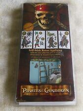 Disney Pirates of the Caribbean Self-Stick Room Appliques 19 Stickers Removable