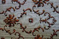 French Estate - Vintage Barkcloth Custom Bedspread Floral Shabby Chic