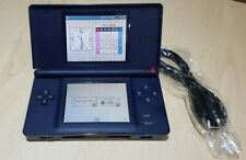 Nintendo Ds Lite Console English + Charger cable Tested and cleaned Navy Blue