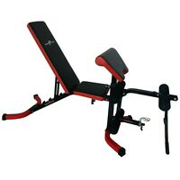 Nero Adjustable Weight Bench Leg Extension Preacher Curl FID Gym Fitness Dumbell