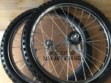 26 X 175//2.125 BIKE WHEELS COASTER BRAKE /& FRONT W//  MOUNTED  TIRES//TUBES 36 spk