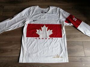 Team Canada 2014 Sochi Winter Olympics Nike Swift Hockey Jersey in White Size L
