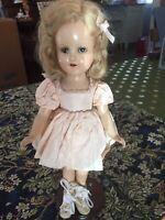 Vintage Madame Alexander Sonja Henie Doll in Original Tagged Dress W/ Skates
