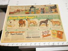 newspaper ad 1949 FRISKIES dog food Chow Cairn Great Dane TIDE laundry detergent