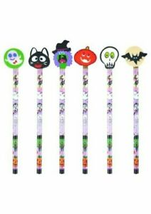 Novelty HALLOWEEN Topper Pencils & Erasers Childrens Kids Boys Party Bag Fillers