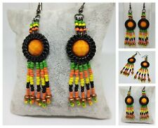 Pendientes de estilo étnico artesanales,exclusivo/Handmade ethnic style earrings