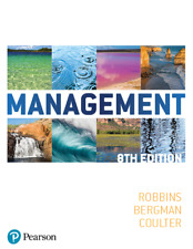 NEW - FAST to AUS - Management by Robbins, Bergman (8 Ed)