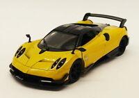 Pagani Huayra - Yellow - Kinsmart Pull Back & Go Diecast Metal Model Car