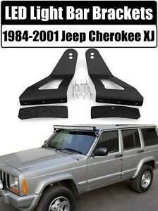 """LED Mounting Brackets 52"""" or 50"""" Curved Light Bar for 1984-2001 Jeep Cherokee XJ"""
