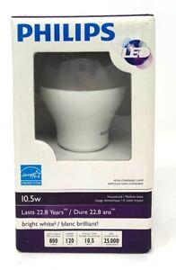 Philips 430405 10.5 watt 800 Lumens 3000K A19 LED Household Light Bulb White