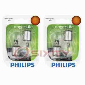 2 pc Philips Brake Light Bulbs for Nissan Tsubame Tsuru 1993-2004 Electrical fn