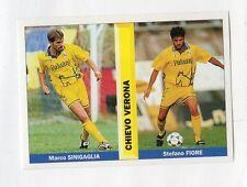 figurina PIANETA CALCIO 1996/97 NUMERO 397 CHIEVO VERONA SINIGAGLIA, FIORE