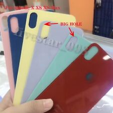 For iPhone X XS XS Max Battery Cover Glass Rear Back Door Replacement Big Hole