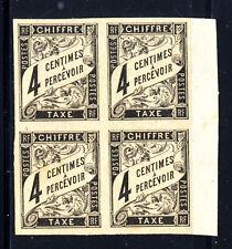 COLONIES GENERALES Taxe 4 Bord de feuille, 2 timbres xx, TRES BEAUX