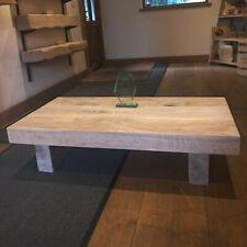 Oak Beam Coffee Table Living Room Chunky Country Unique Handmade Hardwood