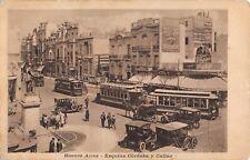 BUENOS AIRES, ARGENTINA, TROLLEYS AT CORNER OF CORDOBA & CALLAO STS c 1904-14