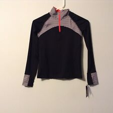 Childs C9 Champion Long Sleeve Activewear Black With White Stripes Size M(7/8)