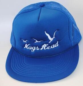 Nags Head North Carolina Trucker Baseball Cap Hat One Size Snapback Mesh Blue