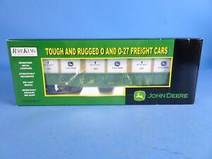 MTH RAILKING 30-72003 JOHN DEERE  GONDOLA CAR W/CRATES. NEW!