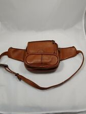 Fanny Pack Genuine Columbian Leather Brown Waist Belt Adjustable Belt To 46