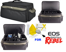 PRO EXTRA LARGE PADDED DSLR CASE BAG FOR CANON EOS REBEL 5D 6D 7D 80D T7 T7I T6