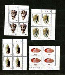 U0229 GUINEA BISSAU 2002 Marine shells - multiples of 4  MNH