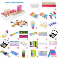 Pillendose 7 Tage Pillenbox Pillenturm Tablettenbox Medikamentenbox transparent