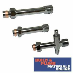 Chrome Radiator Valve Extension Tail   60mm   100mm   Drain Off   Cut To Size