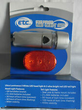 ETC BIKE CYCLE BICYCLE FRONT AND REAR LIGHT SET
