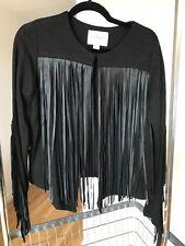 Velvet by Graham Spencer (Brand) Leather Fringe Jacket - Size M
