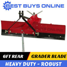 6 ft Grader Blade Heavy Duty Adjustable Anger Suit Tractor 3PL