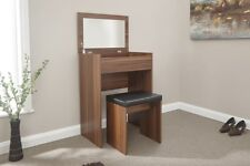 Small Dressing Table Set With Mirror Seat Flip Top Hidden Padded Stool Vanity