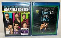 Bluray Mixed Lot OF 2 Horrlible Bosses & The Fault in Our Stars New SEALED