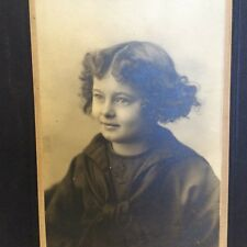 Antique Photograph Young Girl Curly Hair Sailor Suit Portrait Pretty Child Photo