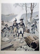 """c71-58 Gravure contes & récits d'Alsace - """"le Général Drouot de la marche"""""""