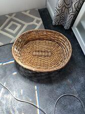 Oval Wicker Hamper Basket