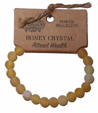 HONEY CRYSTAL POWER BRACELET Attracts Wealth GEMSTONE CRYSTAL Honey Calcite
