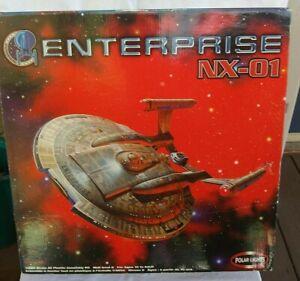 ENTERPRISES NX-01 POLAR LIGHTS 4201 1/350  STAR TREK MODEL BOX OPEN BUT COMPLETE