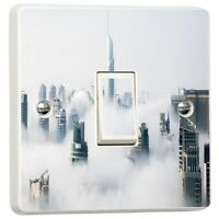 Architecture Buildings City Light Switch Sticker Cover Vinyl Skin Wall Decal