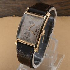 GRUEN VERITHIN 21 JEWEL MENS WATCH 23mm x 27.5mm Running Good Patina