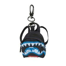 Brand New SPRAYGROUND Marcelo Soccer Blue Camo Shark Mini Backpack Keychain