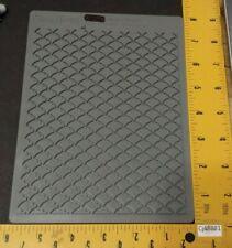 Stampin Up Sizzix Big Shot Letterpress FANCY FAN Texture Plate
