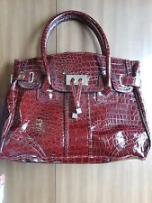 New York & Company large purse/handbag, dark red faux skin