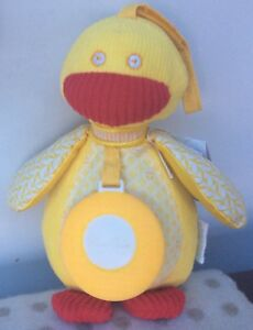 TeetherSilver Cross Riverbank Bob The Duck Clutch Toy Yellow Duck 🦆 New Reduced