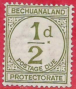 Bechuanaland British sg D3 MH 1932 1/2d sage-green Postage Due