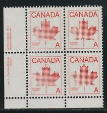 "1981 Canada SC# 907ii LL - Non-Denominated ""A"" Plate 3 Plate Block M-NH # 3039c"