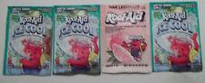 4 Vintage Kool-Aid Packets Point Ice Cool Arctic Green Apple Pink Lemonade Lot 9